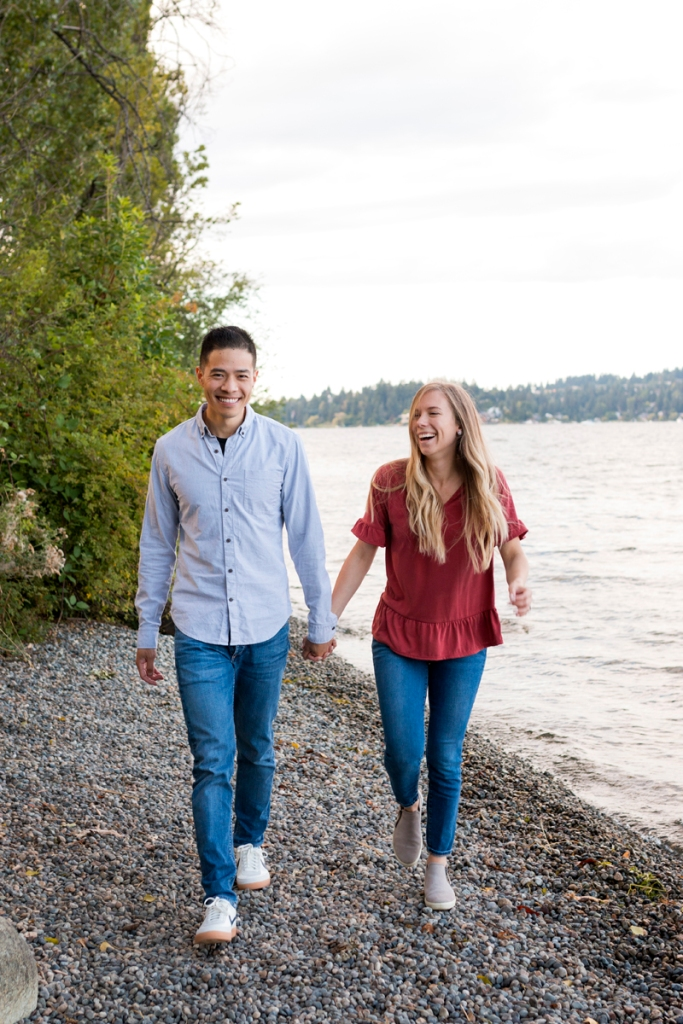 Lake Washington Engagement Photo